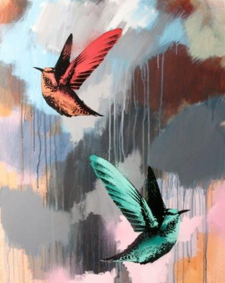 Jim Starr-Red And Pink Humming Birds-2015