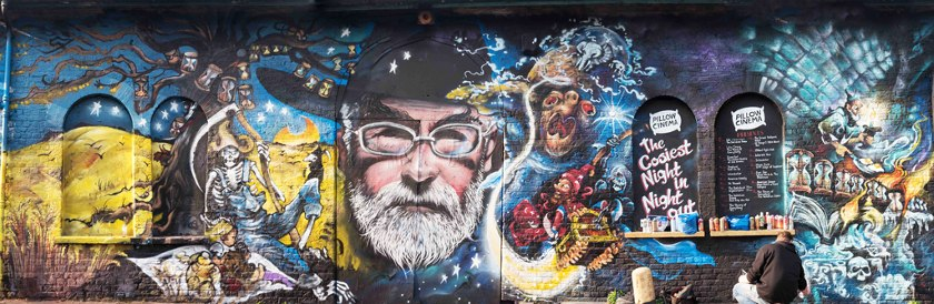Jim Vision X Dr Zadok - Terry Pratchett mural (Close-up), 2015 - Courtesy of End of the Line