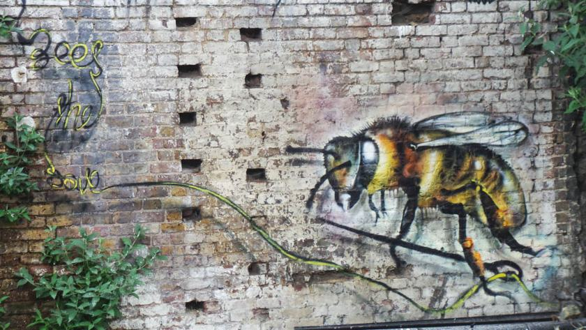 Jim Vision X Louis Masai Michel - Save the Bees, 2014 - Courtesy of End of the Line