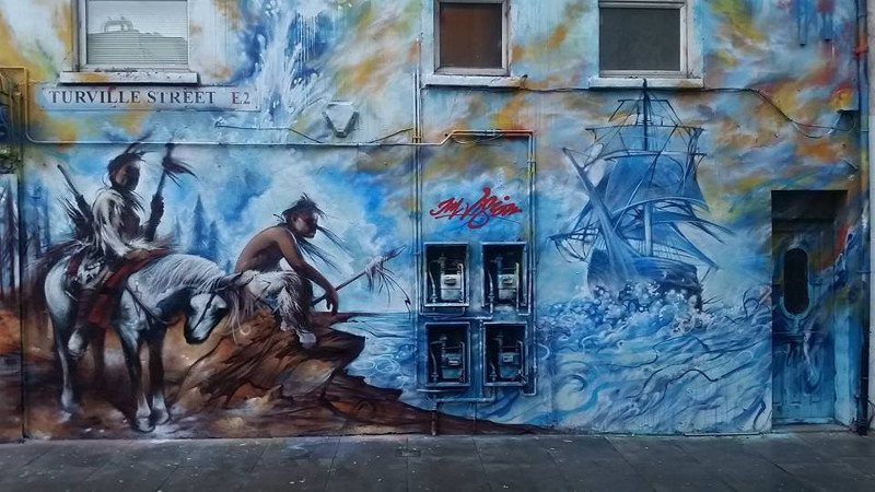 Jim Vision - mural in Turville Street, London, UK, 2016 - 1