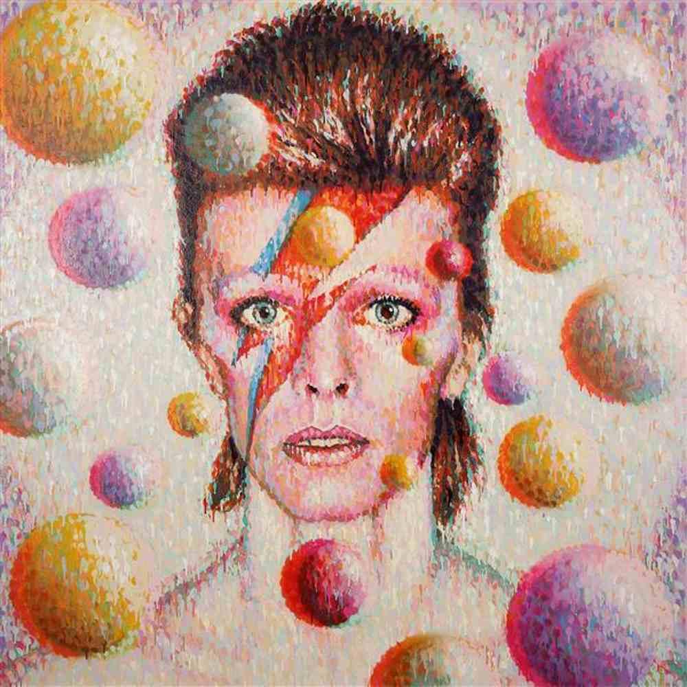 Jimmy C-Bowie portrait in 3D-2013