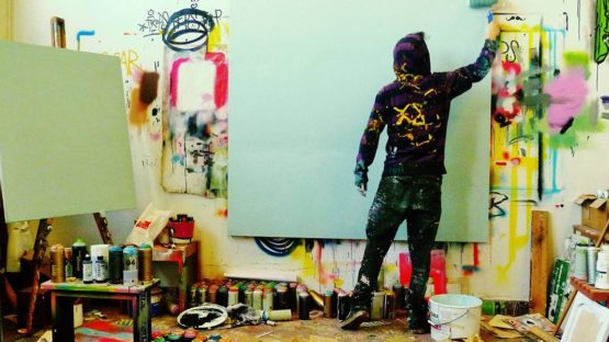 Joachim in his studio - image via Joachim's facebook fan page
