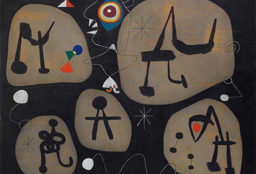 Joan Miró - Femme entendant de la musique, 2018 collection