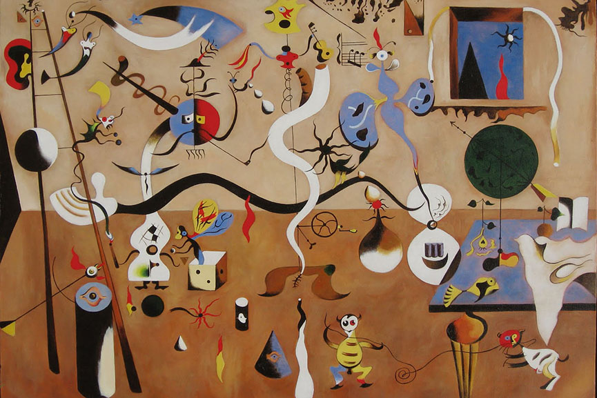 Joan Miró - Harlequin's conscious free Carnival, 1924. Albright-Knox Art Gallery