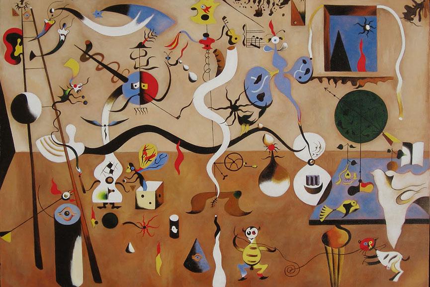 Joan Miró - Harlequin's conscious free Carnival, 1924. Albright-Knox Art Gallery