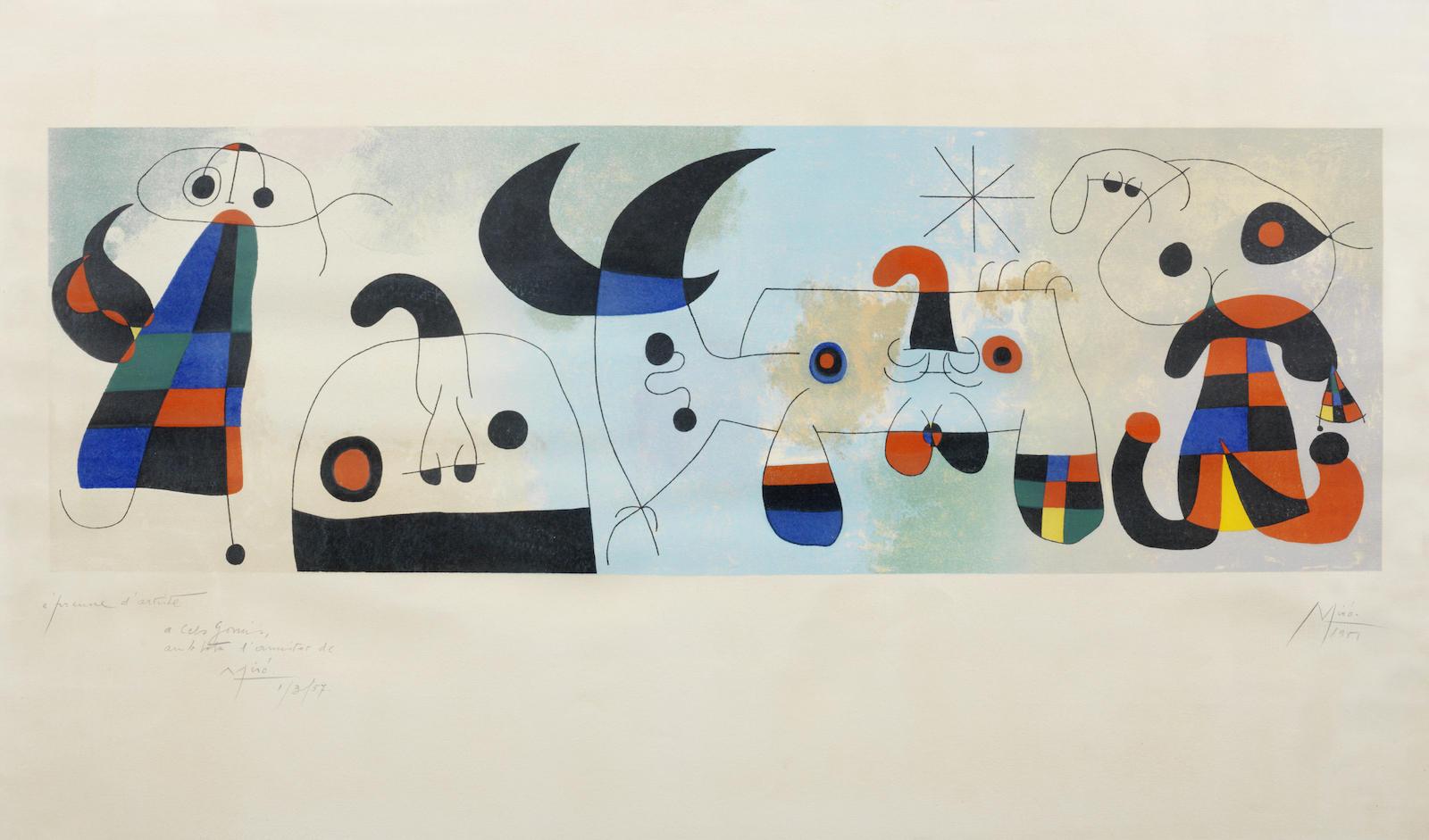 Joan Miro-After Joan Miro - Sur Quatre Murs-1951