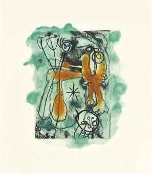 Joan Miro-Andre du Bouchet, La Lumiere de la Lame, Maeght Editeur, Paris; Yves Bonnefoy, Anti-platon, Maeght Editeur, Paris; and Jacques Dupin, Saccades, Maeght Editeur, Paris-1962