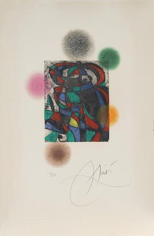 Joan Miro-Arlequin Crepusculaire-1975