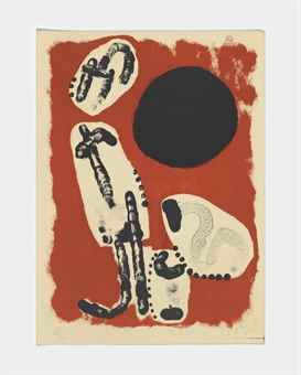 Joan Miro-Astrology I, from: Derriere le Mirroir, no. 57-58-59-1953