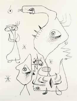 Joan Miro-Barcelona XVI, from Barcelona Series-1944