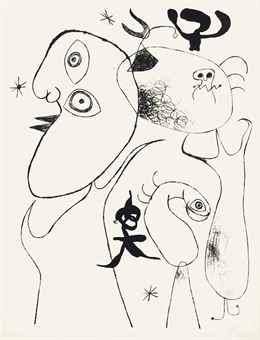 Joan Miro-Barcelona XVIII, from Barcelona Series-1944