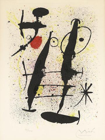 Joan Miro-Dans la riviere basse, from Hai-ku-1967