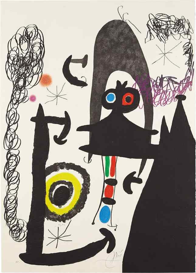 Joan Miro-Escalade vers la lune (Climbing to the Moon)-1969