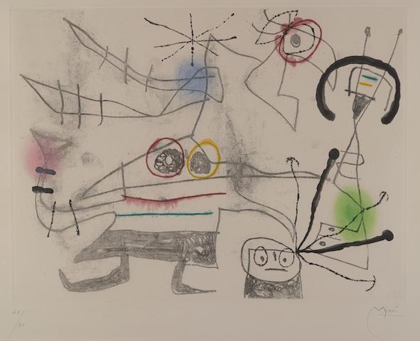 Joan Miro-Femme Oiseau II-1960