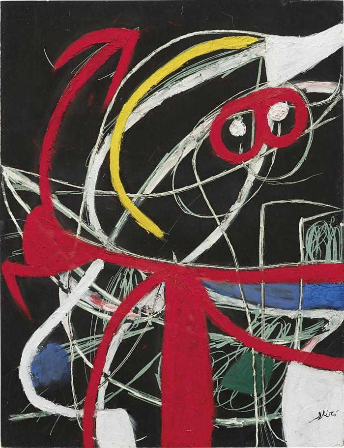 Joan Miro-Femme, oiseaux-1976