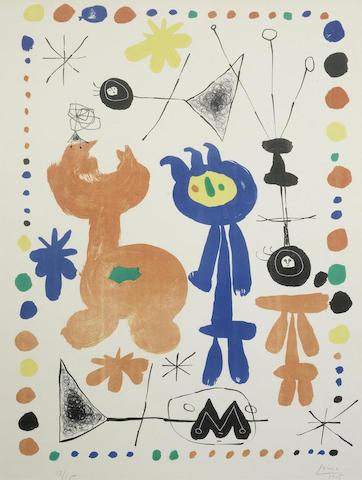 Joan Miro-Figure and Bird-1948