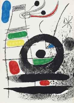 Joan Miro-Joan Miro Lithographs (Vols. I-VI), Tudor Publishing Company and Maeght Editeur, New York and Paris; Le Chien de Coeur-1969
