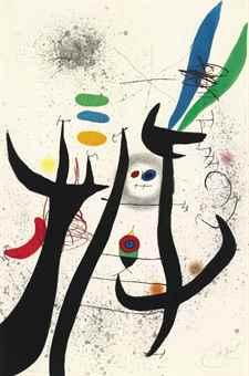 Joan Miro-L'Aigrette Rouge-1976