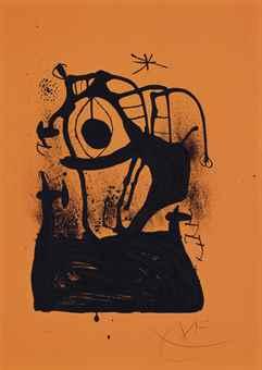 Joan Miro-L'Hypnotiseur (Orange)-1969