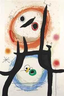 Joan Miro-La Femme Angora-1969