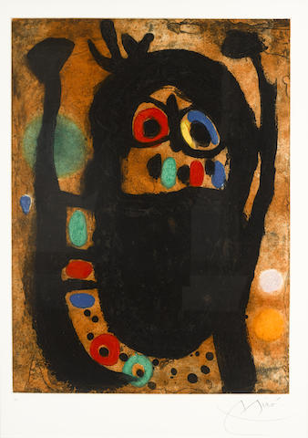 Joan Miro-La Femme Aux Bijoux-1968