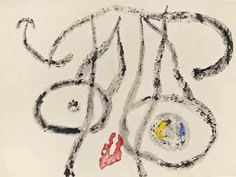 Joan Miro-Le Porteur d' Eau II-1962