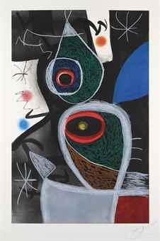 Joan Miro-Le Somnambule-1974