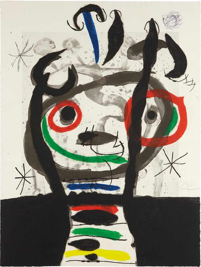 Joan Miro-Le grand sorcier (The Great Wizard)-1968