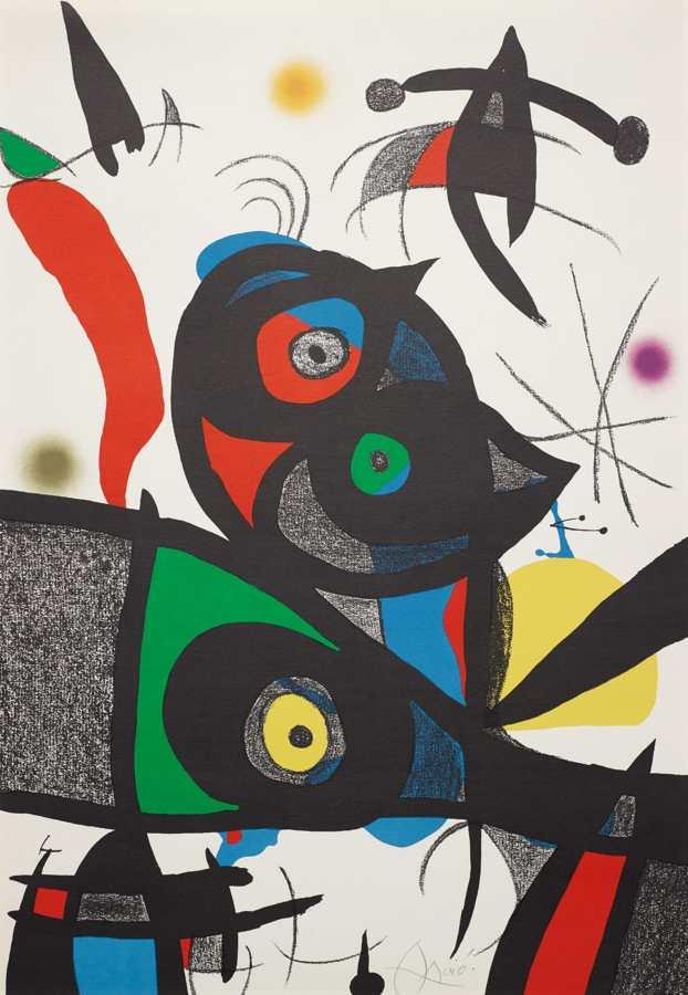 Joan Miro-Oda a Joan Miro: plate 3-1973
