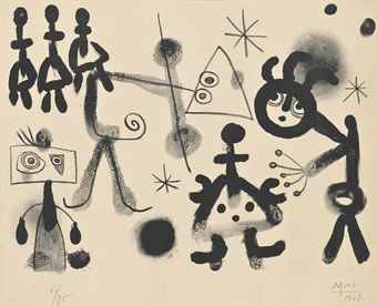 Joan Miro-One Plate, from: Album 13-1948