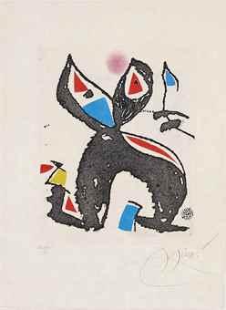 Joan Miro-One plate, from Le Marteau sans Maitre-1976