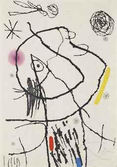Joan Miro-One plate, from Passage de L'Egyptienne-1985