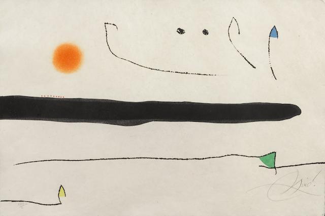 Joan Miro-Pl. 1 from Le Marteau sans Maitre-1976