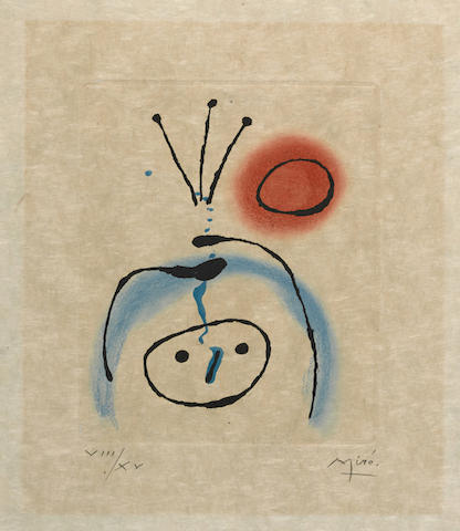 Joan Miro-Pl. 2 from Suite La Bague d'aurore-1957