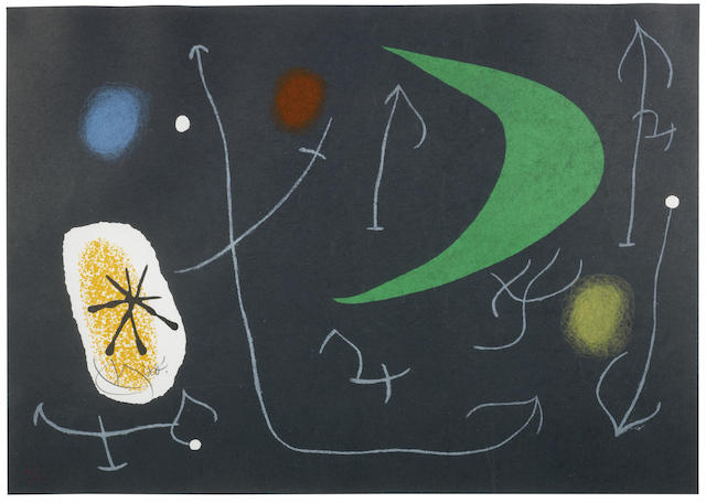 Joan Miro-Plate 13, from Le Lezard aux Plumes d'Or-