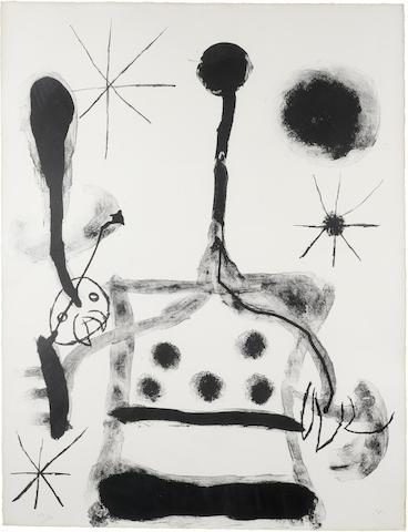 Joan Miro-Plate 18, from Album 19-1961