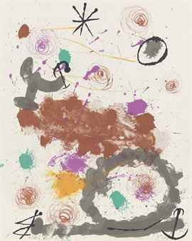 Joan Miro-Plate III, from: Quelques Fleurs pour des Amis-1964