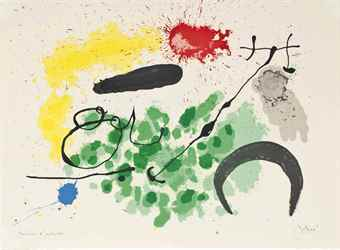 Joan Miro-Plate X, from: Le Lezard Aux plumes d'Or-1967