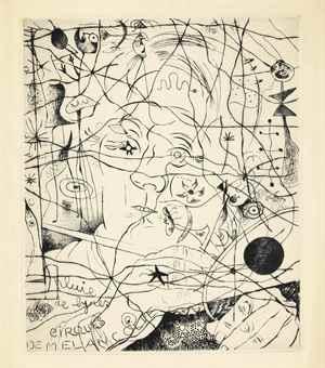 Louis Marcoussis-Joan Miro-Joan Miro and Louis Marcoussis - Portrait de Miro-1938