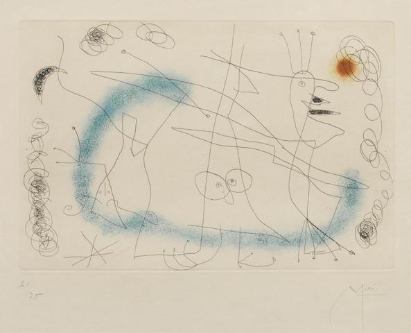 Joan Miro-Strip-tease in Blue-1959