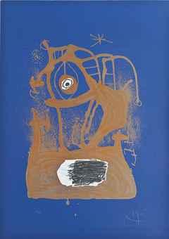 Joan Miro-The Tempest (Indigo)-1969