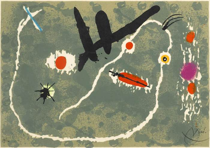 Joan Miro-Untitled (from Le Lezard Plumes d'Or)-1971