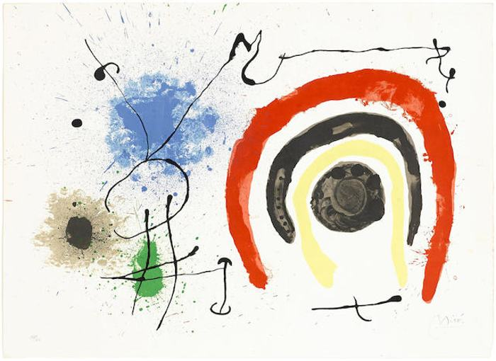 Joan Miro-Untitled, from Le Lezard aux Plumes d'Or-1967