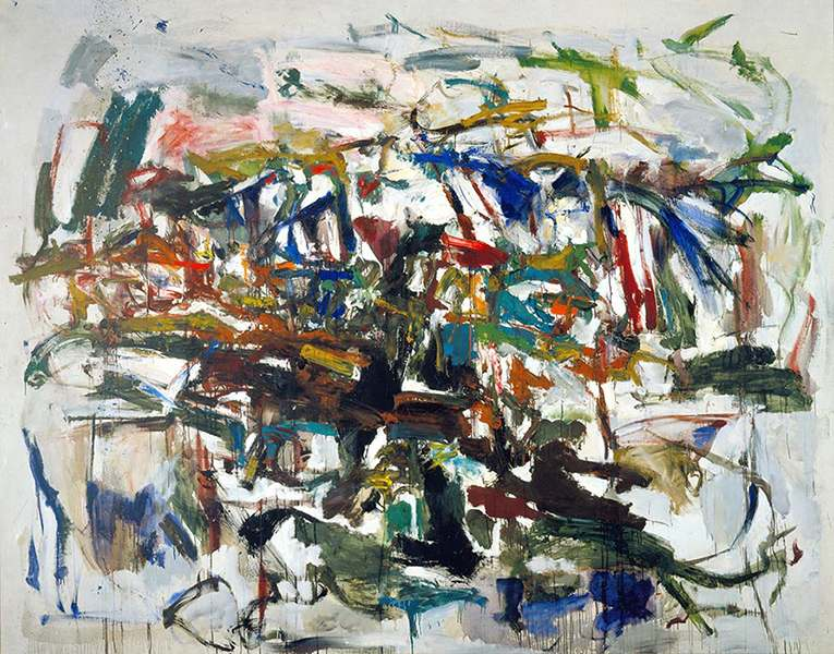 Mitchell was influenced by Kooning in her early paintings. contact faq overview