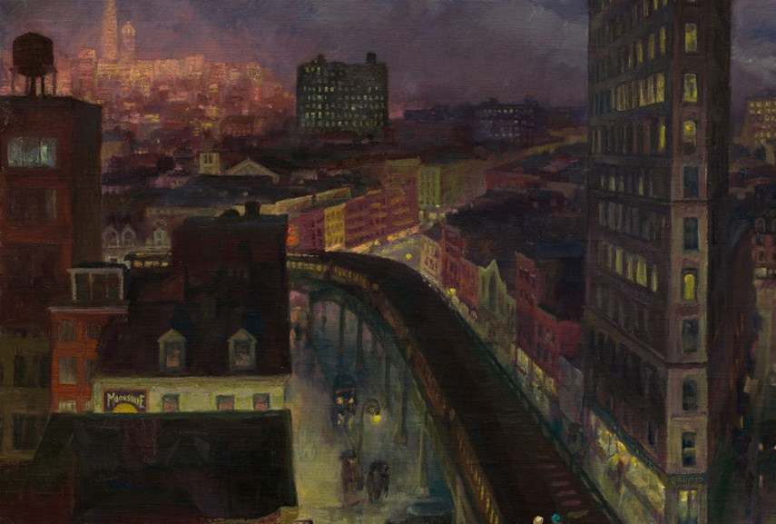Joan Sloan - The City from Greenwich Village