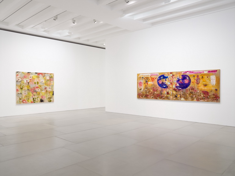 Joan Snyder - Rosebuds Rivers, 2018, Installation view