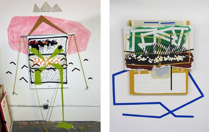Joe Kupillas - At Times I May Overreact, 2013 (left) We Steering Across Purpose, 2014 (right)