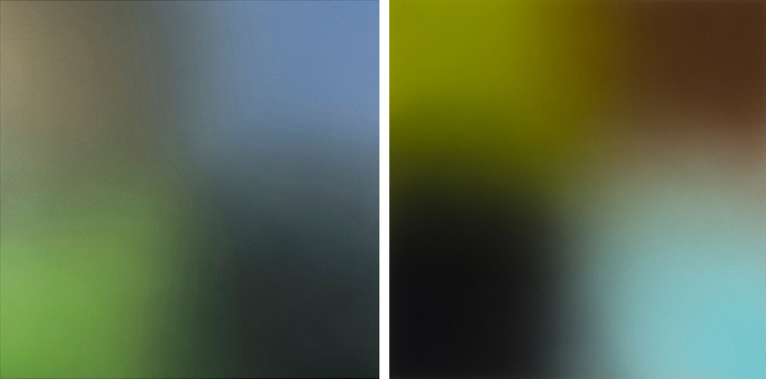 Joe Macca - Untitled 073 (Black Gold-Violet-Black-Light Green), 2013 - Untitled (059), 2013