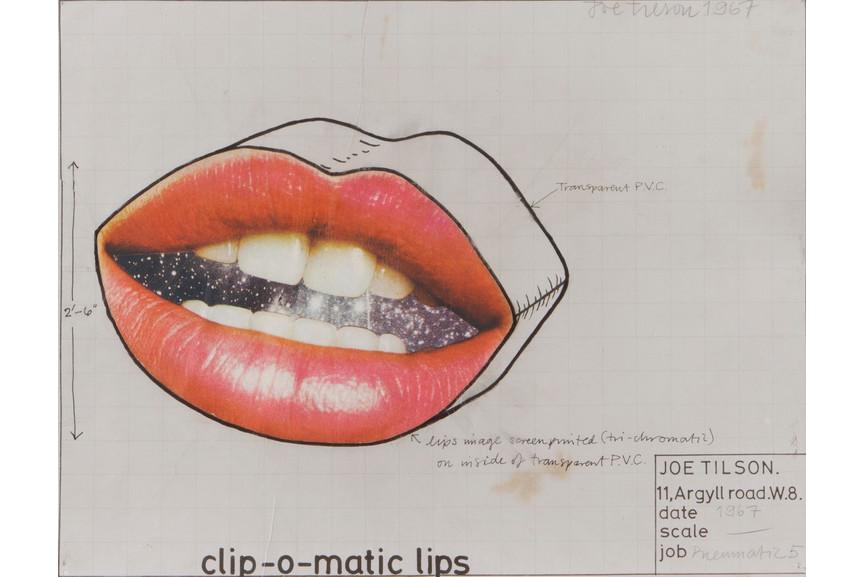 Joe Tilson - Clip – o – matic lips