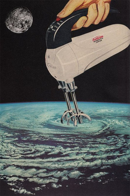 JoeWebbart - Stirring Up a Storm, 2014, photo credits - Joe Webb, hand-made collages, surrealism